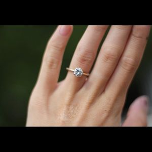 Jewelry - 1 Carat Forever One Moissanite Engagement Ring